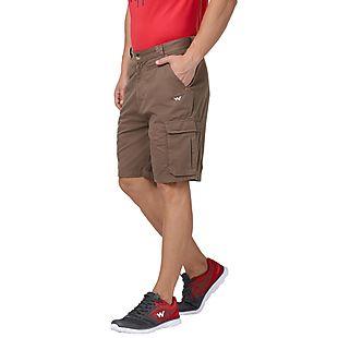 Wildcraft Men 7-Pocket Cargo Shorts - Brown